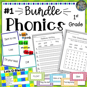 Phonics First Grade Resources & Activities: Mega Bundle 1
