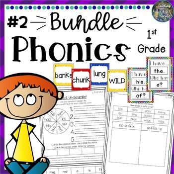 Phonics First Grade: Mega Bundle 2: Units 2-8