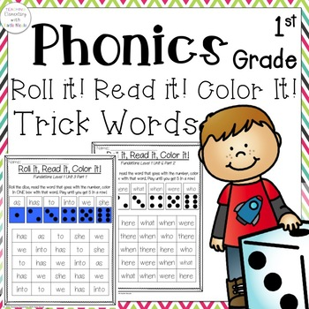 First Grade Roll it, Read it, Color it! Practice reading s