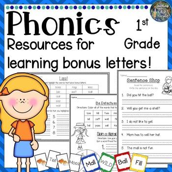 Phonics 1st Grade Resources for learning Bonus letters: -l