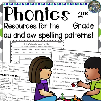 Phonics Second Grade: Resources for learning the 'au' and