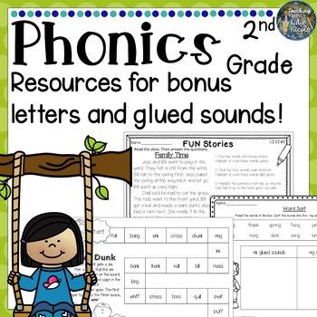 Phonics Level 2 Unit 2: Resources for bonus letters & glue