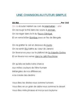 FUTUR SIMPLE/CHANSON AU FUTUR