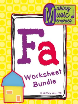 Fa Worksheet Bundle