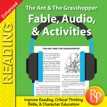 Fable, Audio, & Activities: The Ant & The Grasshopper - Enhanced