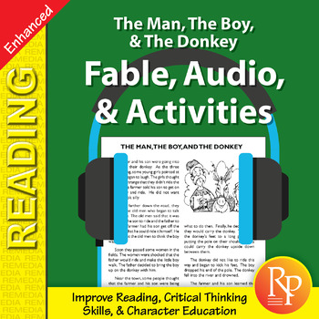 Fable, Audio, & Activities: The Man, The Boy, & The Donkey