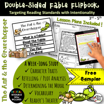 Fable FREEBIE: Ant & Grasshopper Literature Activities by Cherie Marie