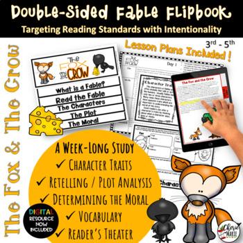 Fables 3rd Grade 4th Grade The Fox & Crow RL3.2 RL3.3 RL4.2 RL4.3