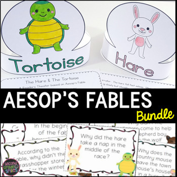 Aesop's Fables Close Reading, Literacy Centers, & Reader's