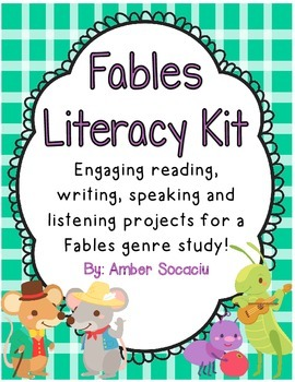 Fables Genre Study - Activities for Centers, Whole Group,