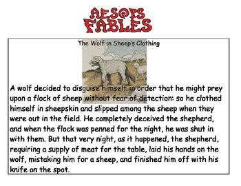 Fables Reading Scavenger Hunt