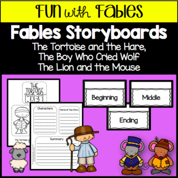 Fables Storyboards - Lion and the Mouse, Tortoise and Hare