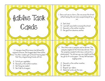 Fables Task Cards