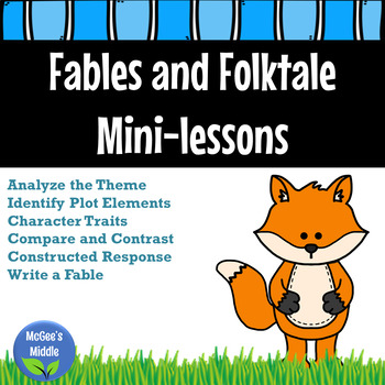 Fables and Folktale Mini-lessons and Constructed Response