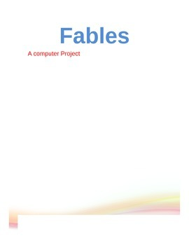 Fables, computer project