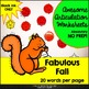 Fabulous Fall Awesome Articulation Worksheets 720 Words