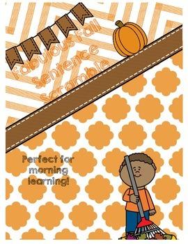 Fabulous Fall Sentence Scramble {Morning Learning}