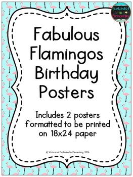 Fabulous Flamingos Birthday Posters
