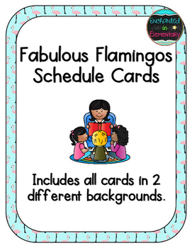 Fabulous Flamingos Schedule Cards