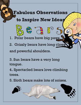 STEM Fabulous Observations to Inspire New Ideas - Bears