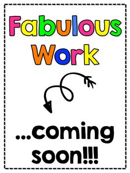 Fabulous Work... coming soon!