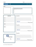 Facebook Character Profile-Blank Template