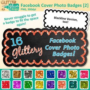 Facebook Cover Photo Frame Clip Art {Rainbow Glitter Chalk