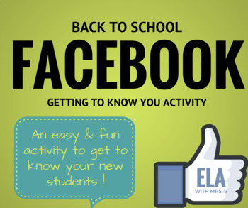 Facebook First Days of School Activity