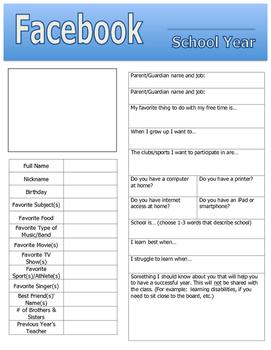 Facebook Info Sheet