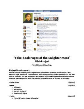 Facebook Pages of the Enlightenment