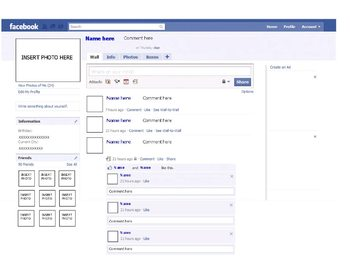 Facebook Template - Microsoft Publisher - Character or His