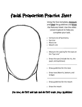 Facial Proportion Practice Sheet