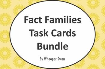 Fact Families Task Cards Bundle