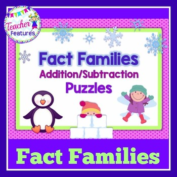 Fact Family Games (Puzzles with a Winter Theme)