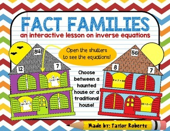 Fact Families - A Cut & Paste/Foldable Activity