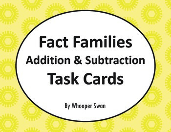 Fact Families: Addition & Subtraction Task Cards
