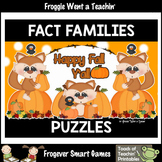 "Fact Families--Addition/Subtraction Fall Scene Puzzles ""Ha"