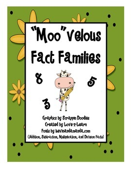 Fact Families (Cow Theme)
