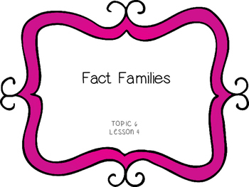 Fact Families - First Grade enVision Math