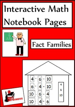 Fact Families Lesson for Interactive Math Notebooks