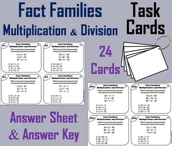 Fact Families Task Cards (Multiplication and Division) 2nd