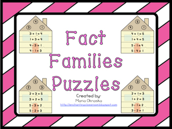 Fact Families Puzzles