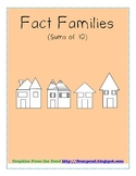 Fact Families Sums of Ten