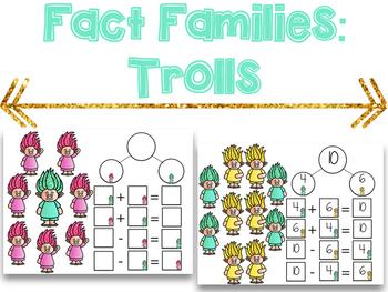 Fact Families Trolls: A Fact Family Center