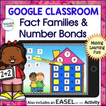 Google Drive Fact Families & Number Bonds for Google Classroom