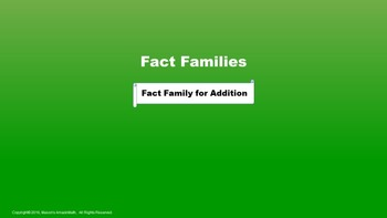 Lesson 5 Part 1: Fact Families for Addition and Problem Solving