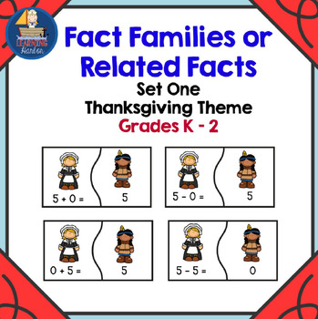 Fact Families of 5,6 and 7 First Thanksgiving Theme
