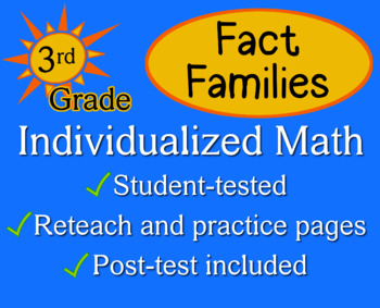 Fact Families, third grade - Individualized Math - workshe