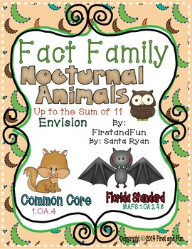 Fact Family Addition Subtraction Math Envision MAFS  Commo
