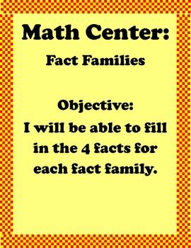 Fact Family Center
